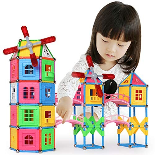 Magnetic Building Block Toys 399 Pieces of Puzzle DIY Magnet Iron rods Children's Boys and Girls Assembling Blocks Educational 3 Years Old Above