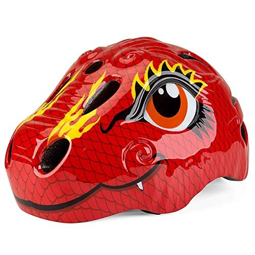Phoneix Helmet for Kids Cartoon Dinosaur Size Adjustable Safety Protection for Children Boy Girl