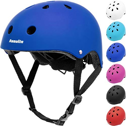 Asoulin Kids Helmet Bike Adjustable Toddler Skateboard Helmet for Ages 3-8 Years