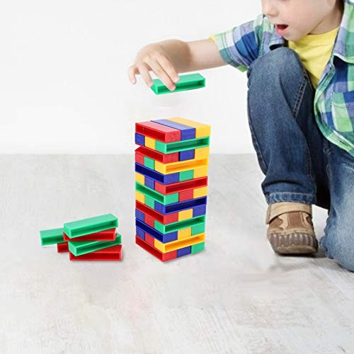 Oyunngs 45pcs DIY Child Building Blocks Children Plastic Intelligent Stack Construction Block for Infants Fine Motor Skills