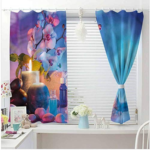 All of better Spa Children Hook Curtain Bath Foam Massage Exotic Oils Grommet Light Blocking CurtainKids Curtains W84 x L54 Inch
