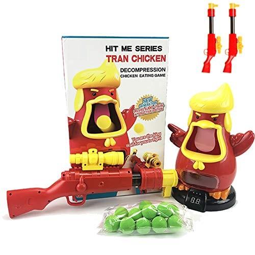 ABCaptain Shooting Game Power Popper Gun Safety Foam Ball Air Powered Shooter Scoring Chicken