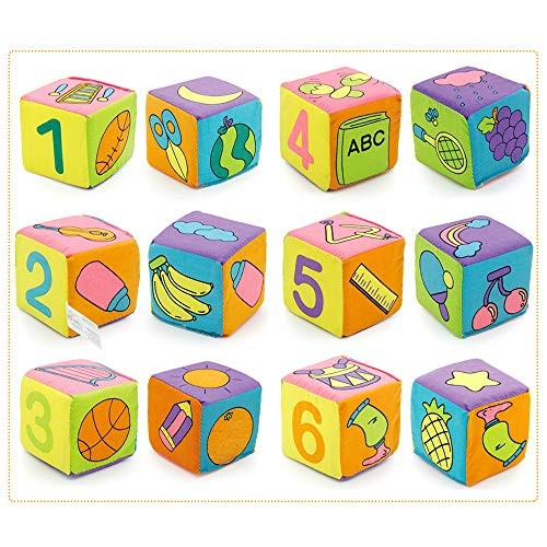 Colorful Stacking Up Building Blocks Cubes Stack Block Set Learning Education Toys with Bags for Baby Kids