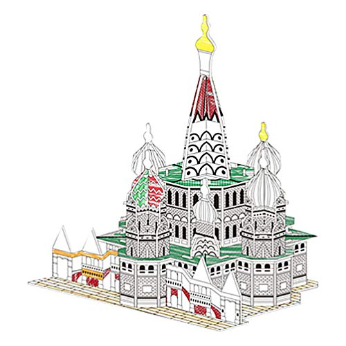 Hakka 3D Jigsaw Puzzle for Kids Arts and Crafts KIT Educational Art Building Painting Coloring Project Models Kits to Build Adults