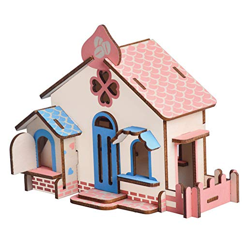 JLCP 3D Wooden Puzzle Chocolate Cottage Building Model Kit DIY Laser-Cut Craft Self-Assembly Adult Child Educational Toy Handmade Gifts