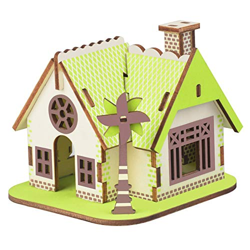 JLCP 3D Wooden Puzzle Ellie Cottage Building Model Kit DIY Laser-Cut Craft Self-Assembly Adult Child Educational Toy Handmade Gifts