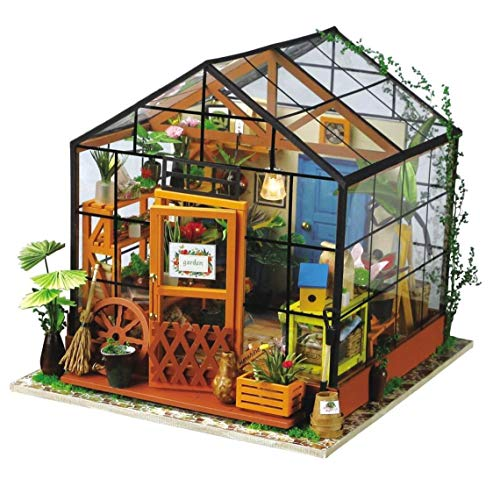 Novelstuffs DIY Miniature House Cathy's Flower House Tiny Kit Model with LED Lights by Hands Craft