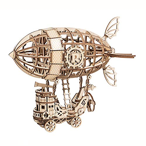 LIZHAIMING Wooden 3D Puzzle Mechanical Model Kits for Adults DIY Craft As Stress Relief Gifts Women and MenAirship