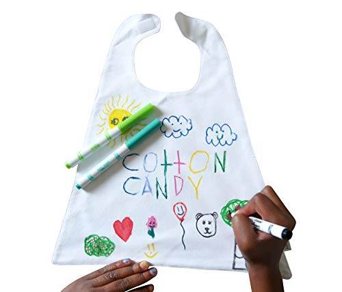 Capes In Flight Kids Craft Kit – DIY Color Your Own Mini Cape for Doll Or Stuffed Animal + 2 Fabric Markers Fun Kid Art & Crafts Kits Creative Activities Set Toddler Boys Girls