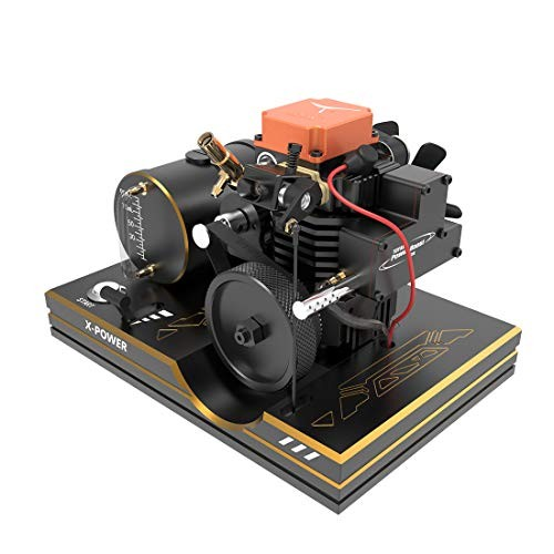 WOLFBSUH Toyan FS-S100AS Four-Stroke Methanol Engine Set Hot Air Stirling Electricity Generator Model Building Kit STEM Hobby Toy for RC Car Ship