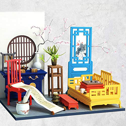 LIZHAIMING Wooden 3D Puzzle Mechanical Model Kits for Adults DIY Craft As Stress Relief Gifts Women and Men Chinese Style Cabin