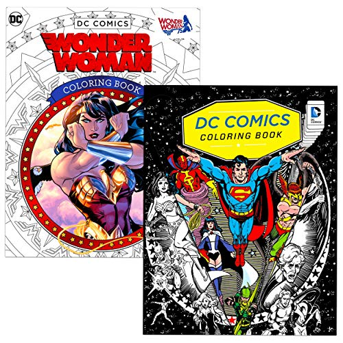 - Superhero Coloring Book For Adults Relaxation Set ~ 2 Pack Advanced DC  Comics Adult Bundle Featuring Superman Batman Wonder Woman And More -  Educational Toys Planet
