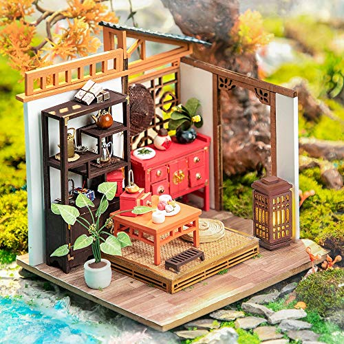 LIZHAIMING Wooden 3D Puzzle Mechanical Model Kits Chinese Style DIY Cabin Stress Relief Gifts Adults Craft