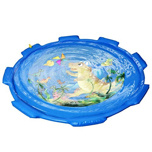 Nilygoes Sprinkler Splash Pad for Kids Splash Play Mat for Wading and Learning68'' Inflatable