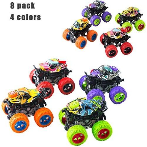 BrilliantMagic Dinosaur Pull Back Car Toy New Dinosaur Toys Vehicles for Kids and Toddlers