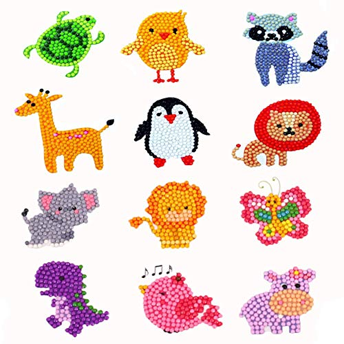 N x 5D Diamond Sticker for KidsMosaic by Numbers Kits Arts and Crafts Set Children