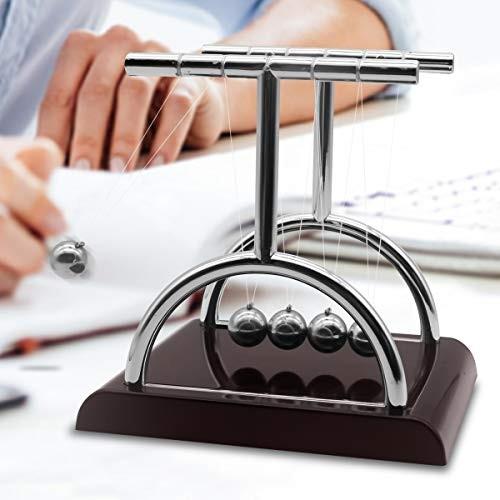 Newton's Cradle Balance Ball Swinging Balls Physics Science Pendulum Newtons for Desk Gadgets Office Decorations Toys T-Shape s