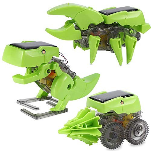 STEM Solar Toys 3 in 1 Transforming Robot Kit DIY Dinosaurs Insect Educational Building Learning Science Set Gift for Boys 8-12