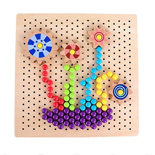 Sugoyi Mushroom Nail Toy Wooden Children Interaction Building Block Playing Puzzle Educational – Ideal Gift for Boys and Girls