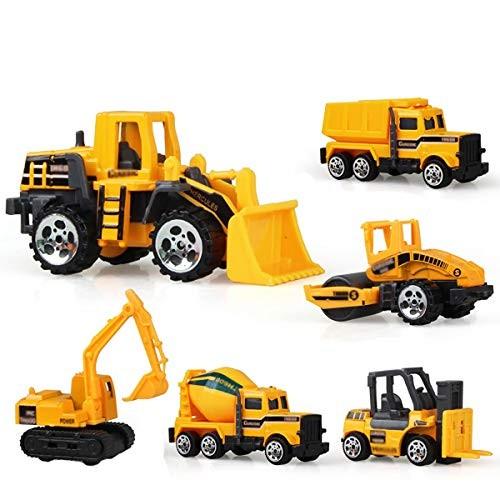 BxSBH-Sliding Alloy Engineering Vehicle Children's Toy Puzzle Boy Entertainment Construction Site 6 Vehicles 6 Piece Set