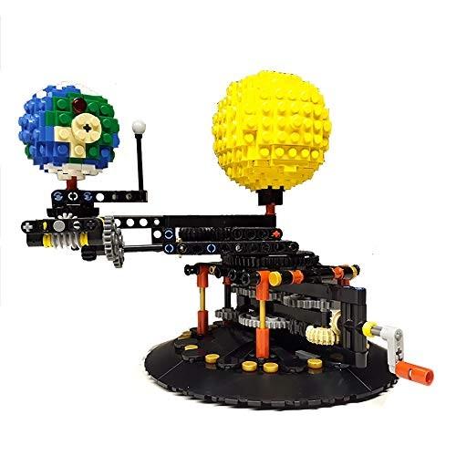 4477 Earth Moon and Sun Model World Creative Building Kit MOC Blocks Toy 189 PCS