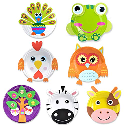 FunPa Kids Paper Craft Kit Pasted Toy DIY Paper-Cut Early Learning Educational