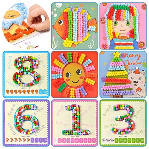 FunPa DIY Craft Kit Pompom Educational Handmade Material for Kids