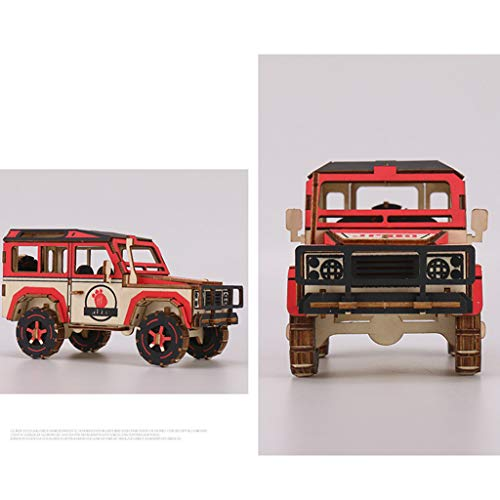 3-D Wooden Puzzles-Cool Car Wood Craft Kit Brain Teaser DIY Toy Gift for 8 Yrs Teen to Adults