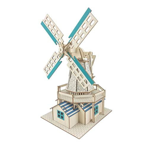 Mvude Wooden 3D Puzzle Assembly Wood Craft Kit Educational Model GiftsxF-G003H