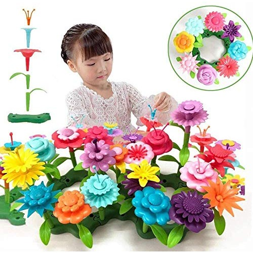 barchrons Flower Garden Building Toys Set Toy Educational Creative Playset for Age 34567 Year Old Gifts 54+10+1pcs