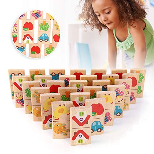 Oyunngs Child Early Educational Wooden Block Kid Cute Interesting Building Intelligent Toy for Children Infants Fine Motor Skill