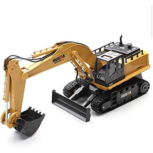 11 Channel Fully Functional Construction Toys Alloy Engineering Truck Excavator Bulldozer Charging Remote Control RC Car with Music Light Birthday Gifts
