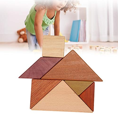 Oyunngs Wooden Puzzle Tangram Children Building Blocks Educational Games for Infants Fine Motor Skill