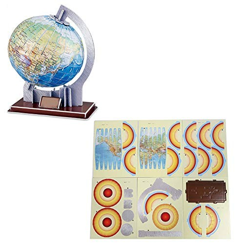 Oyunngs DIY 3D Globe Model Puzzle Kit Intelligent Jigsaw Toy Children Educational Gifts for Infants Fine Motor Skill