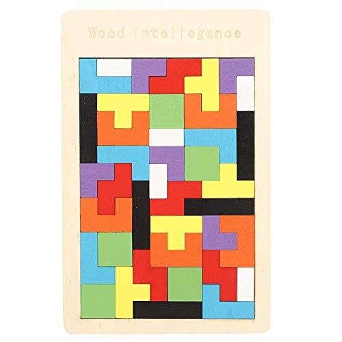 Oyunngs Wood Blocks Puzzle Desktop Game Jigsaw Children Intelligence Building Toy for Infants Fine Motor Skill