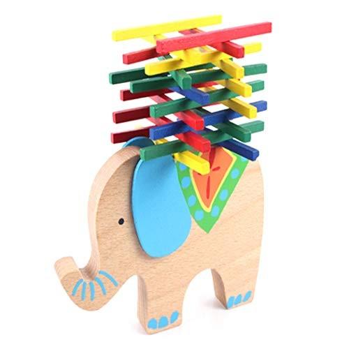 FunPa Building Block Toy Set Balance Elephant Stick Wooden Interactive Puzzle