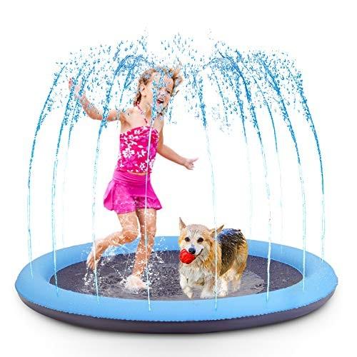 FurryKid Splash Sprinkler Pad for Kids and Dogs Sprinkler for Kids Dog Bath Pool