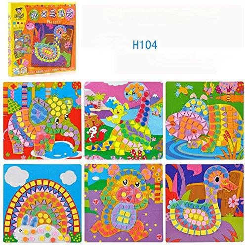 Fun Mosaic Kids Art & Craft Kit Activity Decoration Sticker Set for Childrens Play