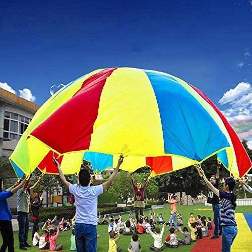CHENZHIQIANG Intelligence Toys Great 36m Children Outdoor Game Exercise Sport Toys Rainbow Umbrella Parachute