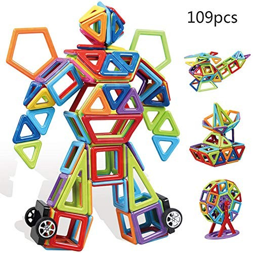 YAOLAN Building Blocks 109 Pieces for Boys & Girls STEM Learning Educational Toy Kids Age Year Old Gift