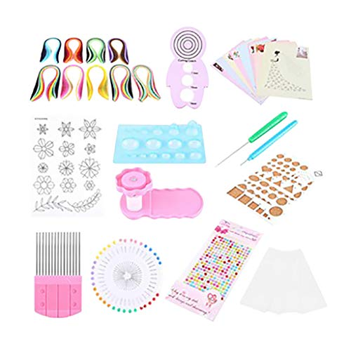 Paper Quilling 1 Set Complete Kit or DIY Craft Rolling Slotted Tools Strips Tweezer Used to Home Decoration Photo Album Scrapbooks Birthday Gift A 36pcs