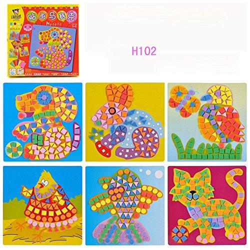 Fun Childrens Play Mosaic Kids Art & Craft Kit Activity Decoration Sticker Set