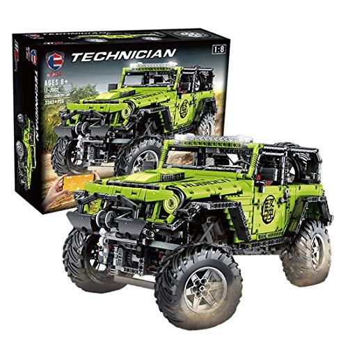 WOLFBSUH Race Car Jeep Wrangler Adventurer Building Set STEM Toy 2343Pcs 1 8 Blocks and Engineering Sports Model