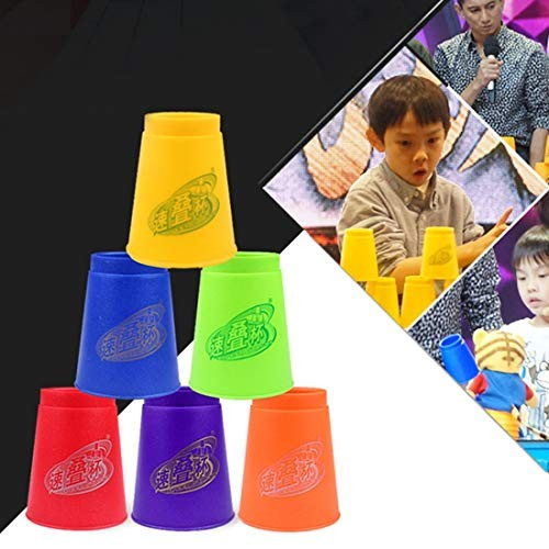 CHENZHIQIANG Intelligence Toys Great 6 PCS Mixed Colors Quick Stack Cups IV Speed Training Sports Stacking