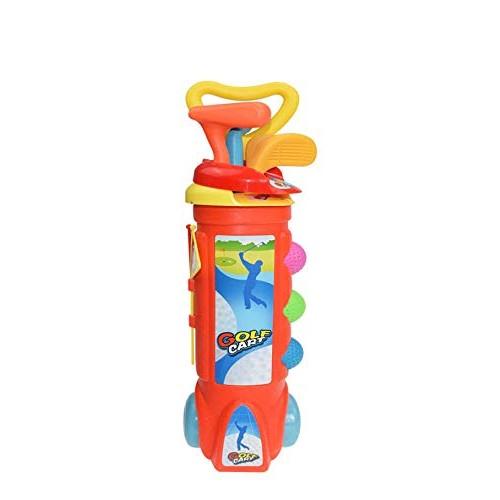 CDDG Kids Golf Clubs Set Golf Toy Set with 1 Trolley case 3 Golf