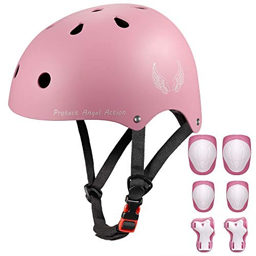 Orieta Bike Skateboard Cycling Kids Helmet for Age 3-8Adjustable Lightweight CPSC Certified Multi-Sport for