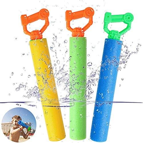 CCFCF Foam Water Blaster Set Pool Toys Water Guns for Kids Water Gun Blaster