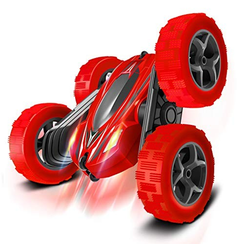 FREE TO FLY Toys Remote Control Car for Kids: Red 4WD Stunt RC Cars