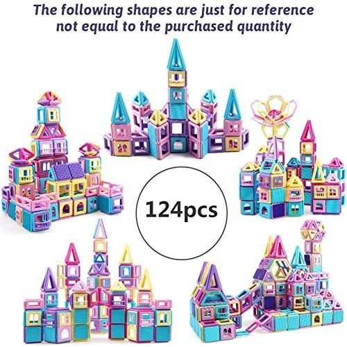 YAOLAN Building Blocks Children Safe Material Creative and Educational Toys Great Birthday for 3 124pcs
