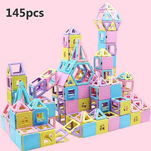 YAOLAN 145pcs Kid Building Blocks DIY Developing Early IQ for Kids Preschool Toys STEM Educational Construction Perfect Home Daycare